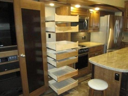2018 Forest River Cedar Creek Hathaway Edition 36CK2 Sandstone / Baltimore  Creme Furniture, Mankato,
